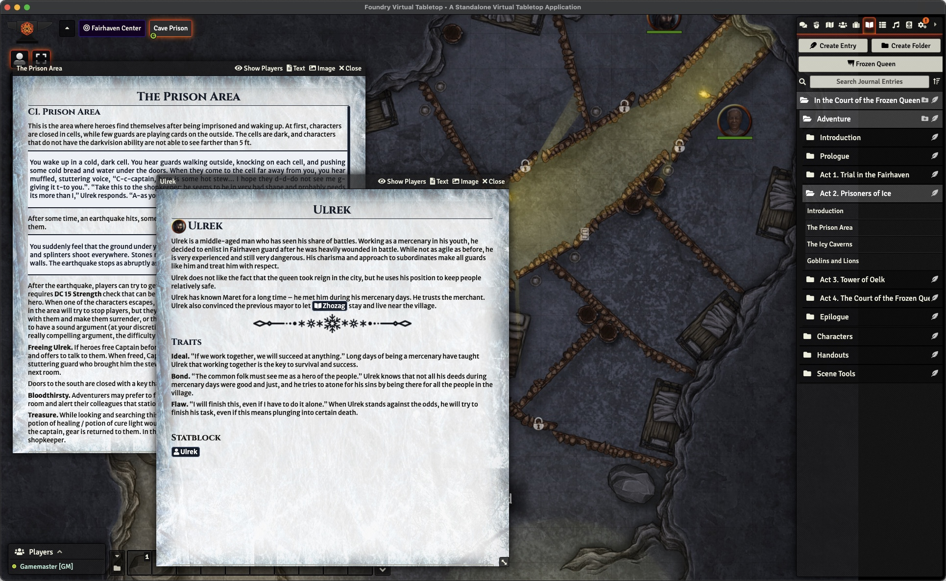 A screenshot depicting a temple scene with an open Landing Page